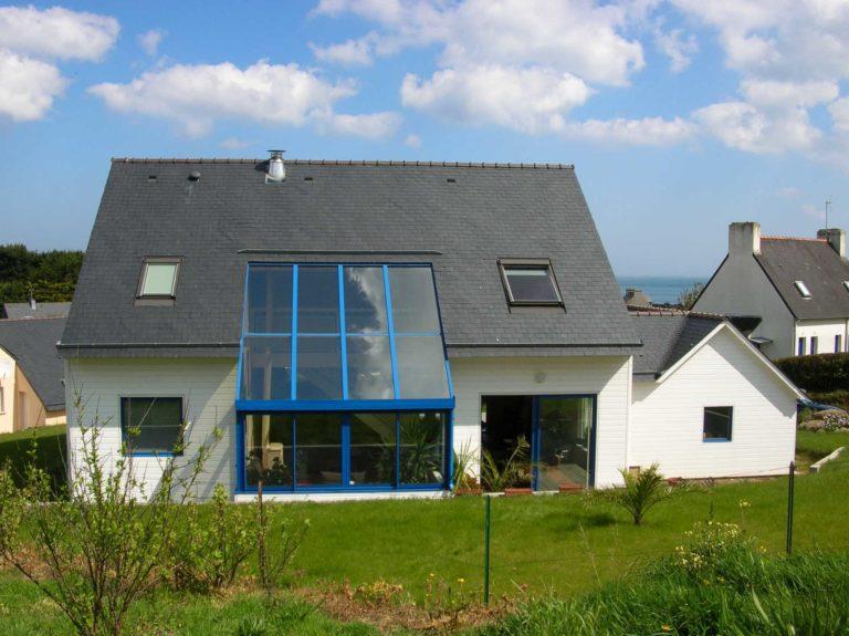 Maison ossature bois avec verrière