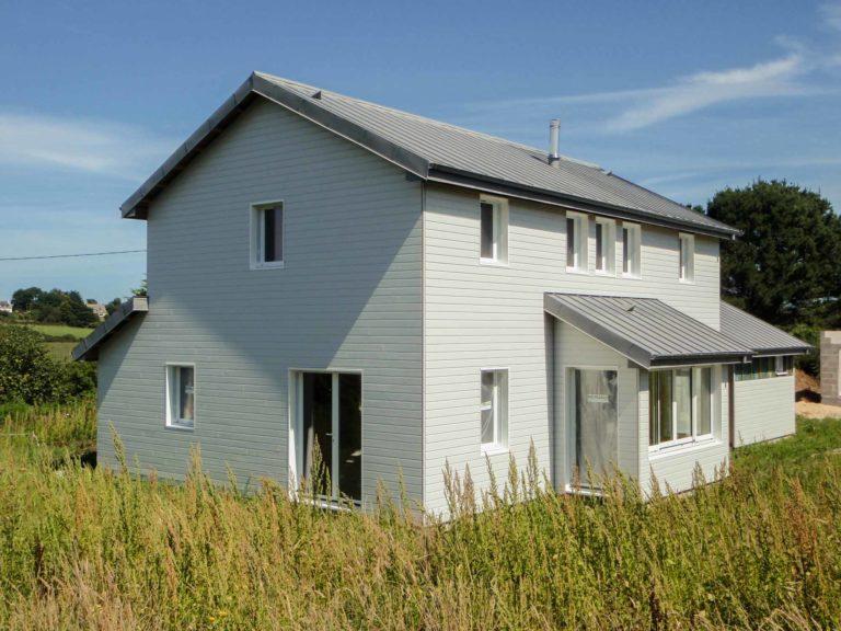 Maison ossature bois, couverture zinc