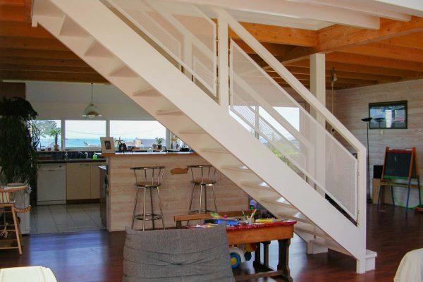 Maison ossature bois - escalier central