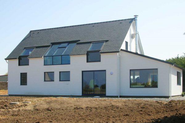 Maison ossature bois, architecte Finistère
