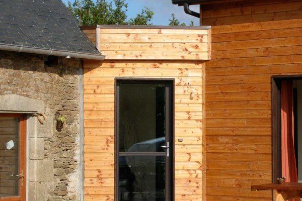 Maison ossature bois. Architecte Finistère