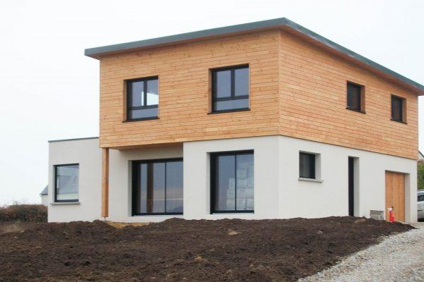 Construction mixte maçonnerie - ossature bois