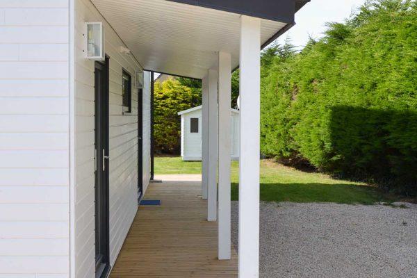 Maison ossature bois, porche