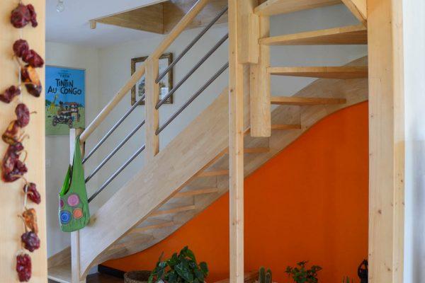 Escalier maison ossature bois