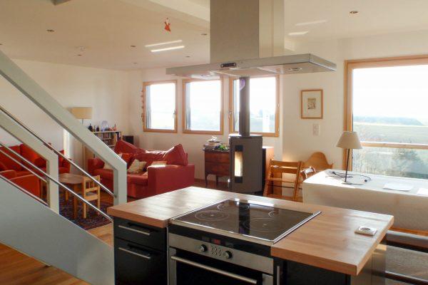 Maison ossature bois cuisine