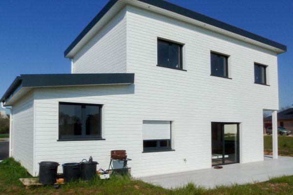 Maison ossature bois toits mono-pentes