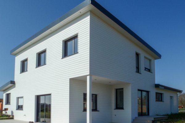 Maison ossature bois toits mono- pentes