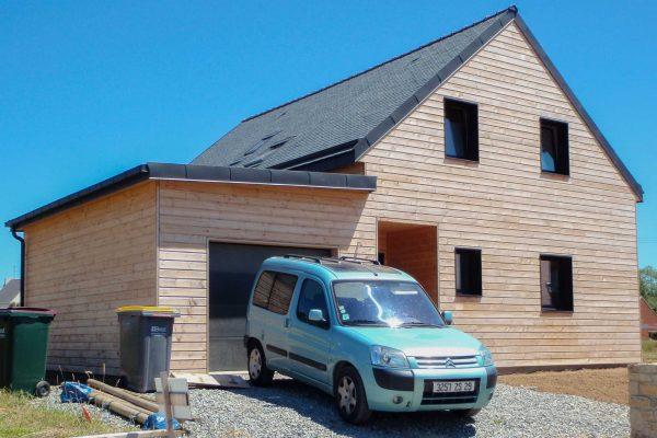 Maison ossature bois, bardage Pin Douglas
