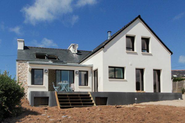 Renovation - extension Plouguerneau. Architecte Finistère