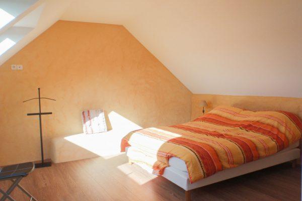 Rénovation et extension - chambre. Isolation chaux-chanvre