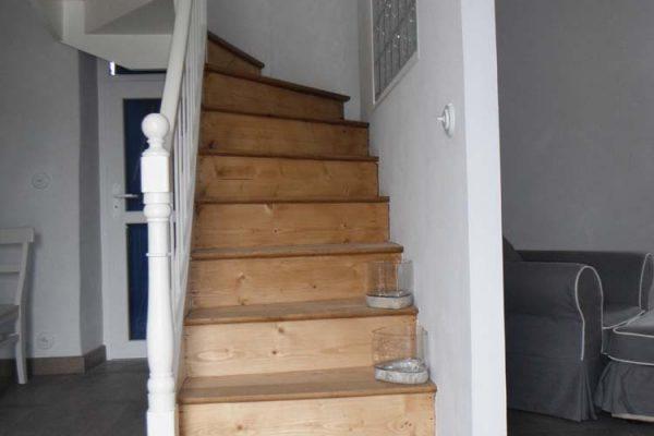 Rénovation escalier, plancher massif en chêne.