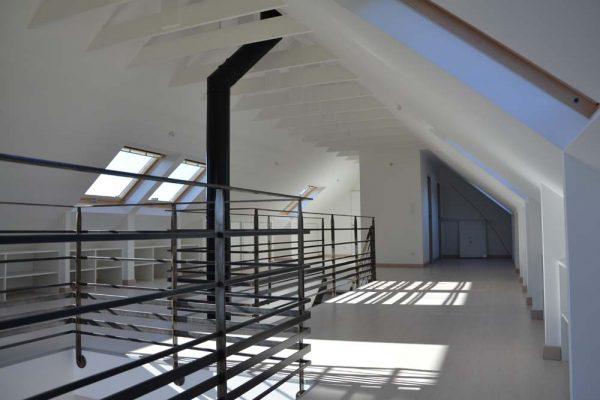 Rénovation - aménagement des combles style loft. Architecte Finistère