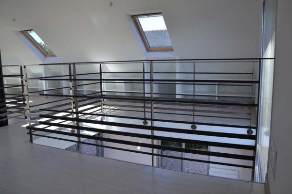 Rénovation - Aménagement de comble style loft. Architecte Finistère