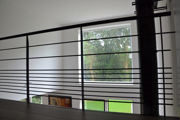Intérieur maison ossature bois, mezzanine