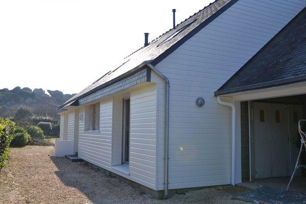 Rénovation - bardage et isolation par l'extérieur.