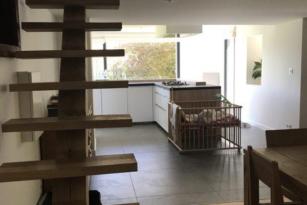 Escaliers Rénovation - extension maçonnerie. Cuisine