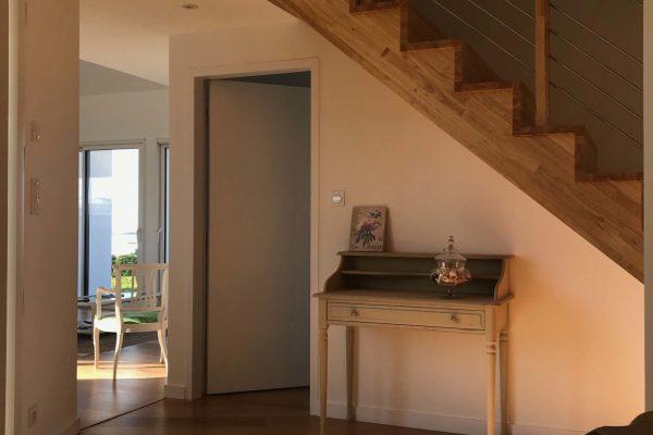 Intérieur maison mixte ossature bois maçonnerie